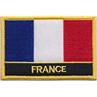 France Flag Embroidered Rectangular Patch Badge / Sew On Or Iron On - Exclusive Design From 1000 Flags