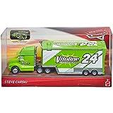 Disney Cars 3 Steve Carski Truck Race Team Vitoline 24 - LKW mit Ladeklappe für Cars Fahrzeuge