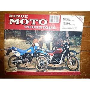 REVUE MOTO TECHNIQUE SUZUKI DR125S de 1983 à 1992 DR125SE de 1994 à 2000 HONDA XLV750R de 1983 à 1986