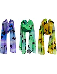 Vershaa Women's Scarves (50x180cm / Set Of 3) Poly Cotton