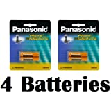 Panasonic Original Ni-MH Rechargeable Batteries (2 Packs Of 2) For The Panasonic KX-TGA470B - KX-TG4771B - KX-TG4772B & KX-TG4773B DECT 6.0 Plus Expandable Digital Cordless Telephone & Answering System