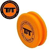 TFT Montageröllchen 7x1,7cm orange für Forellenmontagen, Wickelrolle für Sbirolino- & Tremarella...