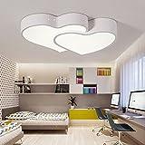 Style home 24W LED Deckenlampe volldimmbar mit Fernbedienung 'Herzensfreunde' Design Neu Model Weiß PS6971-L58