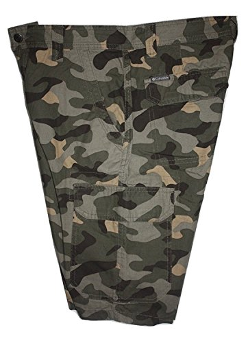 Columbia Mens Jagged Trail Cargo Short Camoflouge