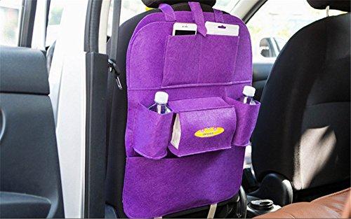 Preisvergleich Produktbild Back Seat Car Organizer, Silence Shopping Multi-Pocket Travel Lagerung Auto Sitz Rücken Tasche (Lila)