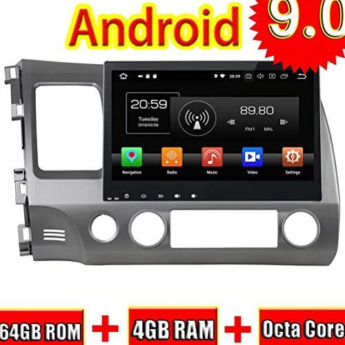 Android 9.0 autoradio für Honda Civic 2006 2007 2008 2009 2010 2011 Auto Stereo Navigation 3g WiFi Spiegel link RDS fm am Bluetooth Honda Civic Factory Radio