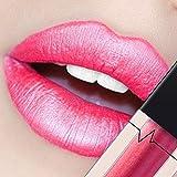 CICIYONER Damen Metall Lippenstift Lip Gloss Liquid Lippe Kosmetik, 24 Farben (04 #)