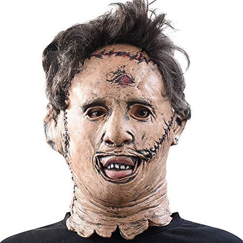 XDDXIAO Kettensäge Massaker Maske Halloween Horror Maske Film Cosplay Masker Erwachsene Partei Kostüm Requisiten Hohe Qualität Latex Lustige Spielzeug (Kettensägen Massaker Kostüm)