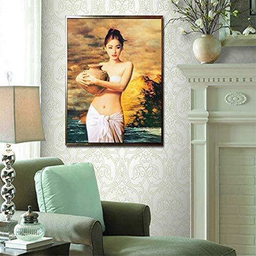 40x60cm SIN marco Impresiones lienzo Hold Pot Retrato