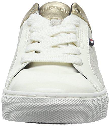 Tommy Hilfiger V1285ali 8c, Baskets Basses Femme Blanc - Weiß (WHISPER White 121)