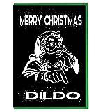 Lustige Weihnachtskarte, lustig, lustig, scherzende Weihnachten, Dildo (Kreidetafel-Effekt)