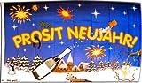 Flagge Prosit Neujahr - 90 x 150 cm