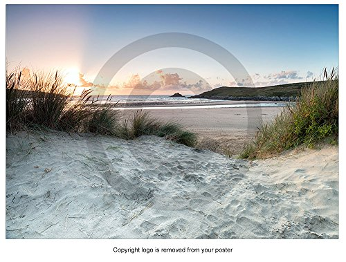 sunset-through-the-sand-dunes-at-crantock-beach-poster-print-p2550-colour-size-a0