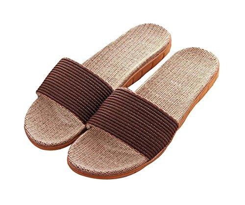 Pantofole estive in cotone lavato antiscivolo per uomo fondo in cotone lavabile