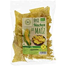 Sol Natural Nachos de Maíz Natural, sin Gluten - Paquete de 20 x 125 gr - Total: 2500 gr