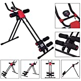 HOPZ Red And Black Color Stainless Steel Adjustable Design 8 Pack Advance Tummy Trimmer Body Abs Excerciser Machine Gym Equipement For Home