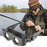 Black Portable Glasses Style Telescope Magnifier Binoculars For Fishing Hiking Concert Glasses