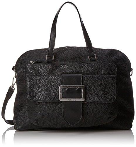 Tamaris Damen Lee Business Bag Tasche, Schwarz (Black Comb), 12x31x42 cm -