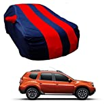 #4: MotRoX Car Body Cover For Renault Duster with Side Mirror Pocket (Red & Blue)
