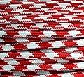 Textilkabel Stoffkabel rot Zick Zack 3-adrig rund , 3x0,75 von Globe Warehouse - Lampenhans.de