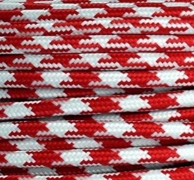 Textilkabel Stoffkabel rot Zick Zack 2-adrig rund , 2x0,75 von Globe Warehouse bei Lampenhans.de