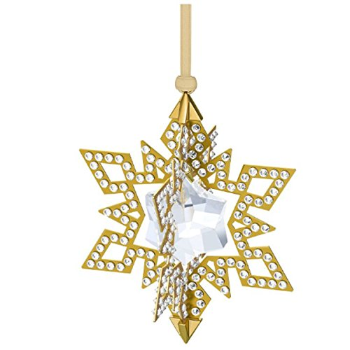 Swarovski 5135809di natale a forma di stella, 7x 9x 7cm–oro