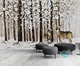 Fototapete Foto Europäische Fototapete Für Wände Custom Große Winterlandschaft Tapete Wohnzimmer Sofa Tv Hintergrund 3D Wallpapers, 200Cmx140Cm