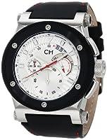 Reloj de caballero Carlo Monti CM701-112 de cuarzo, correa de piel color negro (con cronómetro) de Carlo Monti