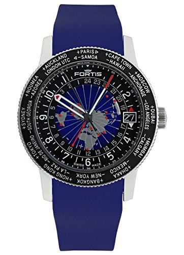 Fortis Hombre Reloj de pulsera b de 47World Timer GMT Fecha Analógico Automático 674.21.11SI.05
