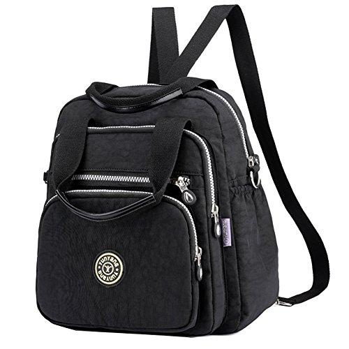 Hozee Tasche Damen Umhängetasche Henkeltasche Messengertasche Schultertasche Rucksack für Mädchen Schule Frauen Reiser Einkaufen  (Rucksack Handtasche Tasche)