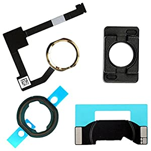 BisLinks® Weiß & Gold Zuhause Taste Flex Kabel Halter Kamera Bracket for iPad Air 2 iPad 6