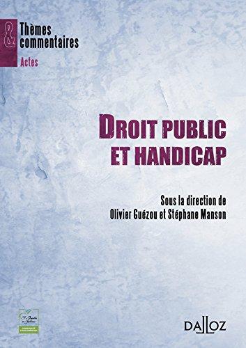 Droit public et handicap par Olivier Guézou, Stéphane Manson, Collectif