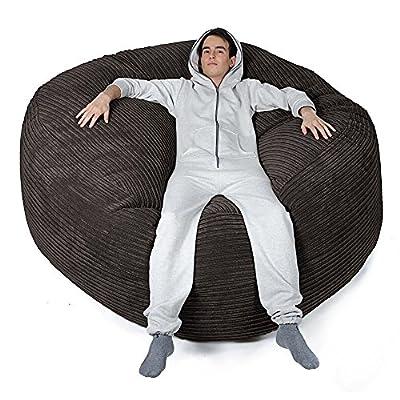 Mega-Mammoth Klassischer Cord Sitzsack Schwarz