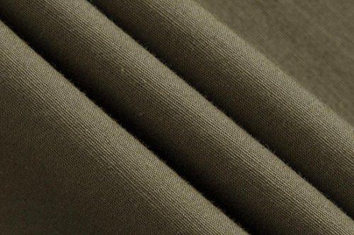 Sportrendy Herren Freizeit Hemden Slim Button Down Long Sleeves Dress Shirts Tops MFN2_JZS041 JZS042_ArmyGreen