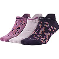 Nike 3Ppk Women's Dri Fit Graphic 2 Calcetines, Mujer, Rojo, S