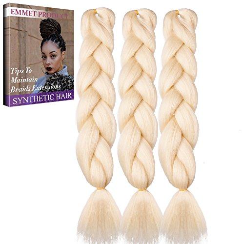 Jumbo Braids-Premium Qualität 100% Kanekalon Braiding Haarverlängerung Full Bundles 100g / pc Synthetik Haar Ombre 24Inch 3Pcs / lot Hitzebeständig, lange Zeit mit-37 Farben 2Tone & 3Tone, Garantie 1 Woche (Galerie Cosplay)