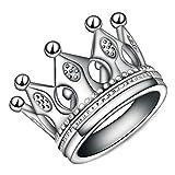 Onefeart Sterling Silber Ring Für Frauen Mädchen Kaiserin Stil Krone Ring Mode Schmuck Silber 54 (17.2)