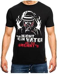 Feuerwehr T-Shirt Männer Ich bin nicht dein Vater - bei Dir brennt´s