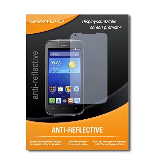 SWIDO Bildschirmschutz für Huawei Ascend Y540 [4 Stück] Anti-Reflex MATT Entspiegelnd, Hoher Härtegrad, Schutz vor Kratzer/Glasfolie, Schutzfolie, Bildschirmschutzfolie, Panzerglas Folie