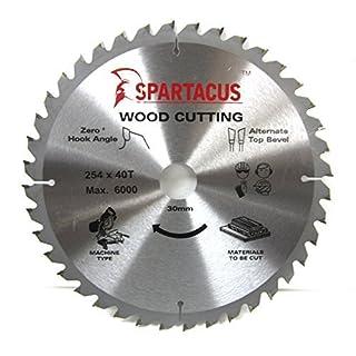 Spartacus 254mm Diameter x 40 Teeth x 30mm Bore Wood Cutting Mitre Chop Saw Fits Bosch GCM10SD