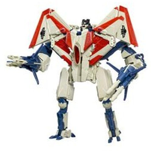 Hasbro Year 2007 Transformers Automorph Technology Movie Series Voyager Class 8 Inch Tall Robot Action Figure - Decepticon STARSCREAM with Exclusive G1 Deco, Missile Launchers and 6 Missiles (Vehicle Mode : F-22 Raptor Jet) - G1 Serie Transformers