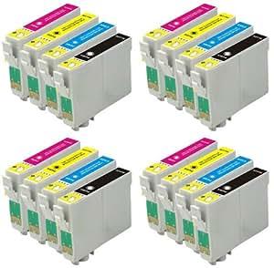 4ensembles complets: 16x 18x L Cartouches d'encre haute capaity compatible avec Epson T1811, T1812, T1813, T1814(Multipack t12816) pour une utilisation en Expression Home XP-102XP-202p-205XP-30/XP-302/XP-305/XP-402/XP-405MUFC Limited Edition Imprimantes