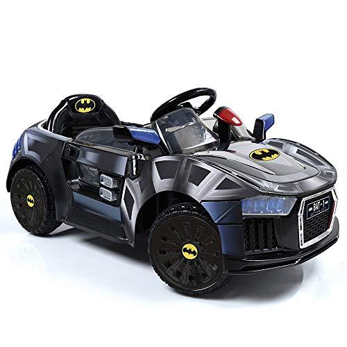 Hauck Toys Elektroauto E Batmobil - elektrisches Auto für Kinder, mit LED, Gurt und Flügeltüren - Batman ()