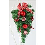 BIEE Weihnachtskranz Anhänger Christbaumkugel 45 cm - Künstlicher Weihnachtsbaum Tannenbaum Christbaum grün Tanne Lena Weihnachtsdeko