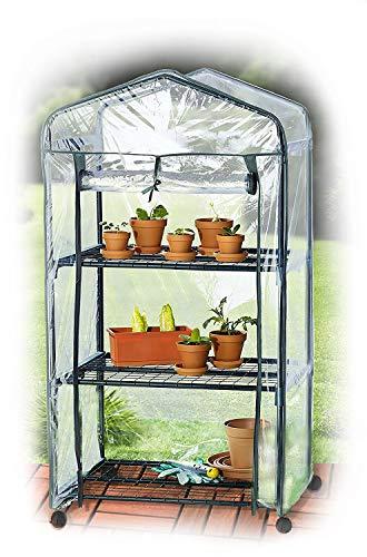 UPP® Plante Serre avec roulettes/serre/Mobile à semis/maison/tomate maison/Film Serre Plante/serre/étagère