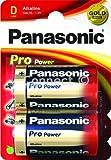 Panasonic Pro Power D Alkaline-Batterien, 1,5 V, LR20/MN1300-Karte, 2D-Zellen, MAX3 RX20-S SP2, HP2 UM-1, Duracell MN1300 R20, R20P, LR20, LR20A AM-1, AM1 HP11, Kodak KD K4A, Toshiba LR20N, NEDA 13A 13AC, Rayovac 6D 813, Varta 4020 3020 D, Panasonic AM2 E95 MONO, Leclanche 1009 SUM1 BA3030/U