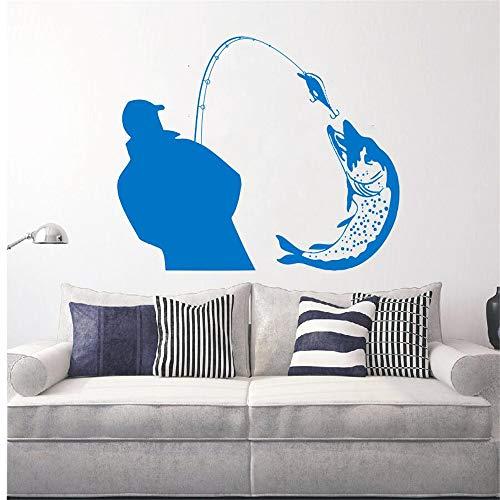 Fischer Fang Ein Riesiger Fisch Silhouette Wandtattoos Wandbilder Home Wohnzimmer Kunst Mode Dekor Wand Poster Angeln Aufkleber 75 * 87 cm (Fisch-skate)