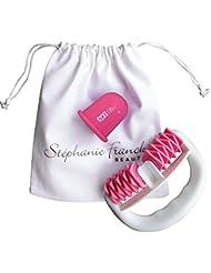 My Set Minceur et AntiCellulite - Roller+Ventouse+Pochette en coton - Traitement amincissant efficace sur les jambes, le ventre, hanches, fesses et bras. Pink