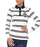 M.Conte Damen Poloshirt Polo-Sweat Sweatshirt Langarm Kaylie Weiss L