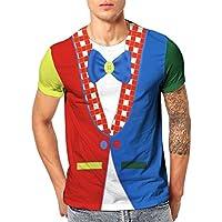 Camisetas Hombre Originales Manga Corta Verano,ZARLLE Camiseta con Estampado Digital y Gafas 3D con